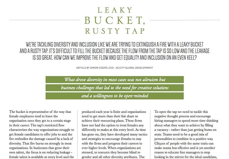 Media: HRD Magazine - Leaky Bucket, Rusty Tap