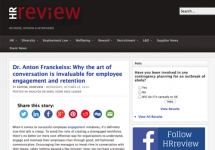 Media: HR Review - Dr. Anton Franckeiss: Why the art of conversation is invaluable for employee engagement and retention